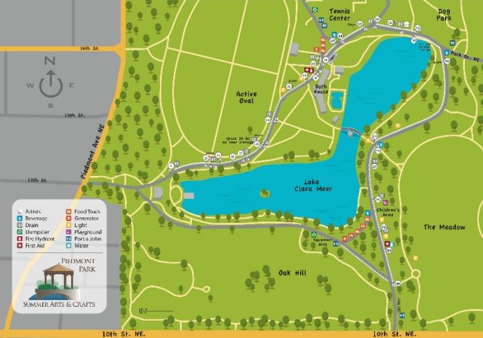 Festival Map » Piedmont Park Arts Festival